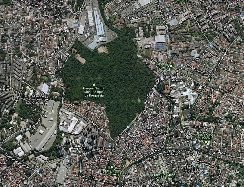 Imagem aérea do Bosque da Freguesia