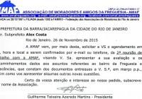 AMAF pede reunião com o Subprefeito Alex Costa. Passou uma semana e nada aconteceu com o Subprefeito Alex Costa!
