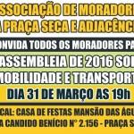 Mobilidade e Transporte serão discutidos no dia 31 de março.