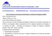 ATA da reunião da AMAF em 19/06.