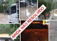 Francisca Sales ontem (20/06) e hoje (21/06). Enchente já anunciada!