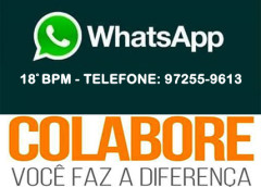 18º BPM – Denúncia online por whatsapp