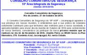 Reunião do Conselho Comunitário de Segurança do 18ºBPM-Jacarepaguá
