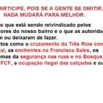 Reunião da AMAF no dia 01/10 na Sede do Bosque da Freguesia! Participe!