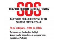 Luta pelo Hospital Federal Cardoso Fontes! Coleta de assinaturas em 30/09. Participe e assine!