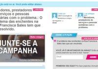Participe do abaixo-assinado para solucionar de vez o problema das enchentes na Rua Francisca Sales!