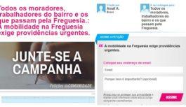 Participe do abaixo-assinado para solucionar o problema da MOBILIDADE na Freguesia!