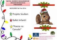 Natal, saúde e qualidade de vida no Bosque da Freguesia. Participe!