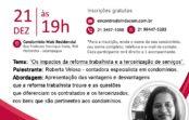 2º Encontro de Síndicos Sindacom – Os impactos da Reforma Trabalhista e a Terceirização de Serviços